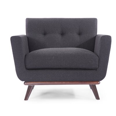 Luther Armchair Upholstery: Charcoal