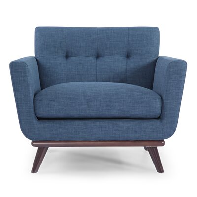 Luther Armchair Upholstery: Blue Curacao