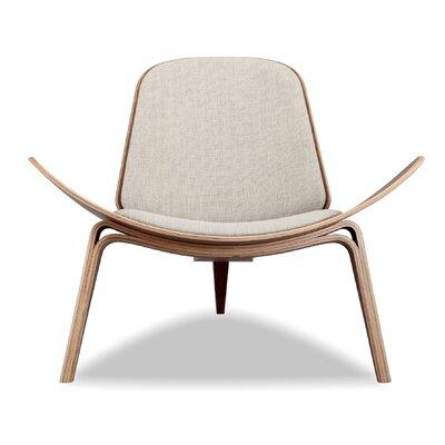 Tripod Plywood Modern Lounge Chair Color: Urban Hemp