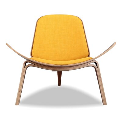 Tripod Side Chair Upholstery: Citrine