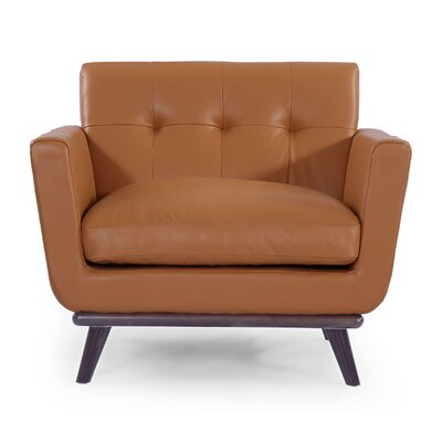 Luther Club Chair Upholstery: Saddle Brown