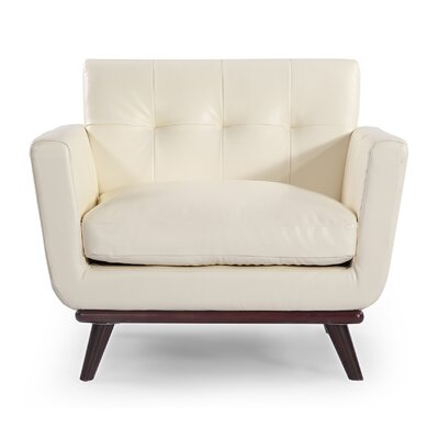 Jackie Mid Century Modern Club Chair Color: White