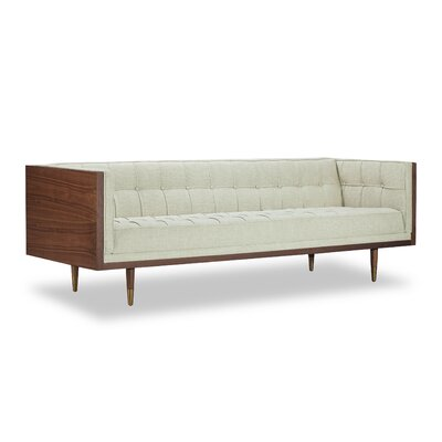 Arista Chesterfield Sofa Upholstery: Urban Hemp, Frame Finish: Walnut