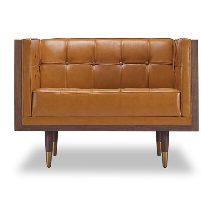 Arista Armchair Upholstery/Finish: Tan/Walnut
