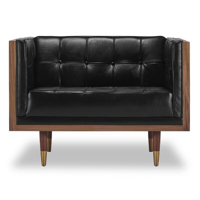 Arista Armchair Color: Black/Walnut