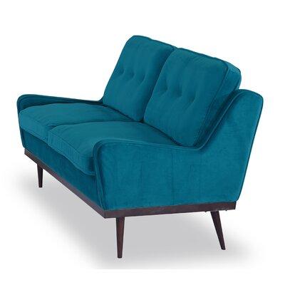 Agustin Midcentury Modern Loveseat Upholstery: Poseidon