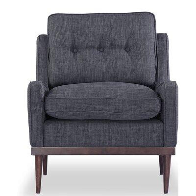 Agustin Midcentury Armchair Upholstery: Midnight Oil