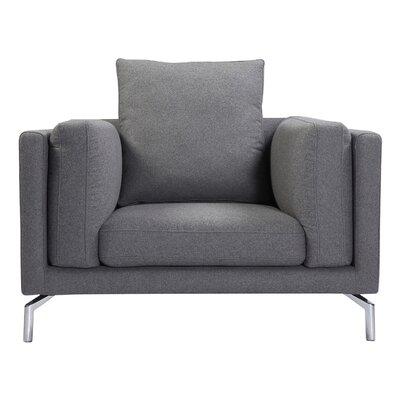 Tia Modern Loft Armchair Upholstery: Cadet Gray