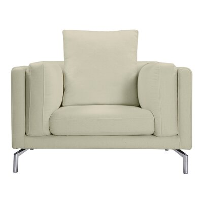 Tia Loft Armchair Upholstery: White Peacoat