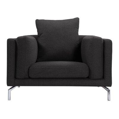Tia Loft Armchair Upholstery: Charcoal