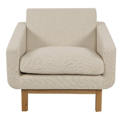 Stuart Cushion Armchair Upholstery: Urban Hemp