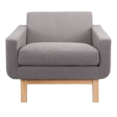 Stuart Cushion Armchair Upholstery: Haze Pewter
