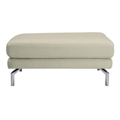 Tia Modern Loft Ottoman Upholstery: White Peacoat