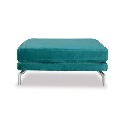 Tia Modern Loft Ottoman Upholstery: Peacock