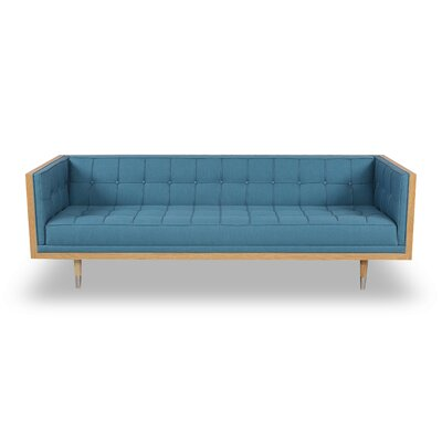 Arista Chesterfield Sofa Upholstery: Urban Surf, Frame Finish: Ash
