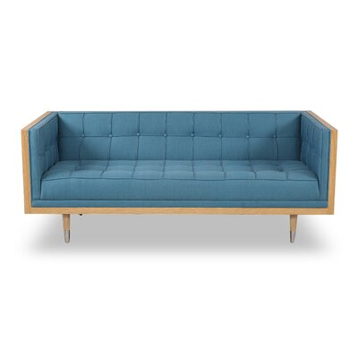 Arista Chesterfield Loveseat Upholstery: Urban Surf, Frame Finish: Ash