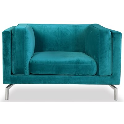 Tia Loft Armchair Upholstery: Peacock