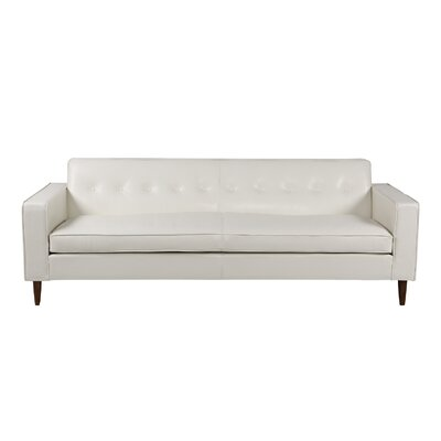 Potter Top Grain Leather Sofa Upholstery: White