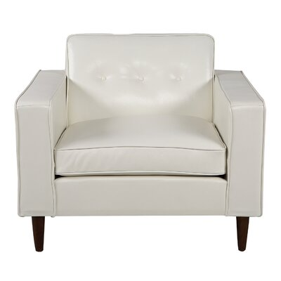 Potter Club Chair Upholstery: White