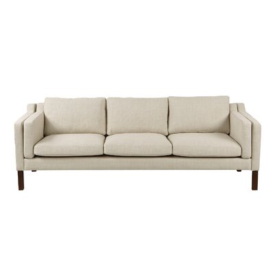 Rolando Sofa Upholstery: Urban Hemp, Finish: Walnut