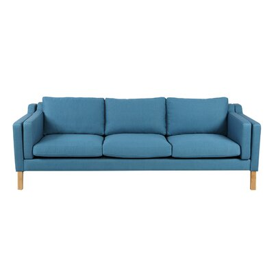 Rolando Sofa Finish: Natural, Upholstery: Urban Surf
