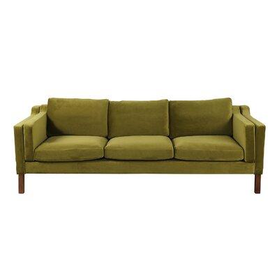 Rolando Modern Upholstered Sofa Upholstery: Olive
