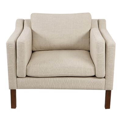 Rolando Arm Chair Upholstery: Urban Hemp, Finish: Walnut