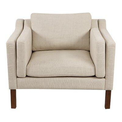 Rolando Arm Chair Upholstery: Urban Hemp, Finish: Walnut