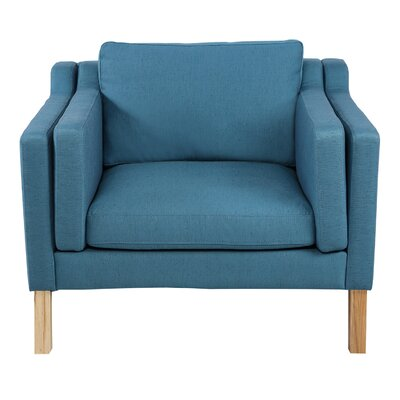 Rolando Arm Chair Upholstery: Urban Surf, Finish: Natural