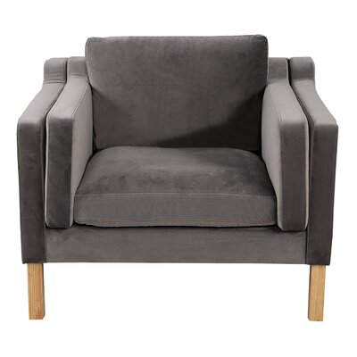 Rolando Upholstered Arm Chair Finish: Ash, Upholstery: Intuit