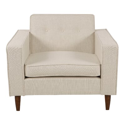 Potter Arm Chair Upholstery: Urban Hemp, Finish: Walnut