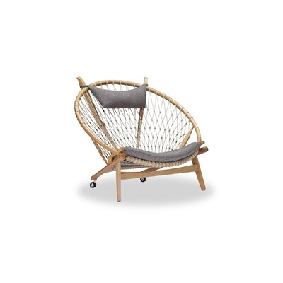 Dianne Papasan Chair Upholstery: Urban Pebble, Finish: Ash