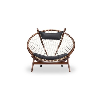 Deloris Papasan Chair Upholstery: Black