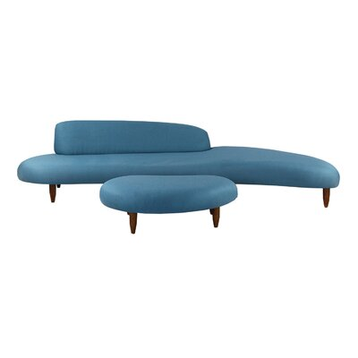 Potvin Sofa and Ottoman Set Upholstery: Urban Surf