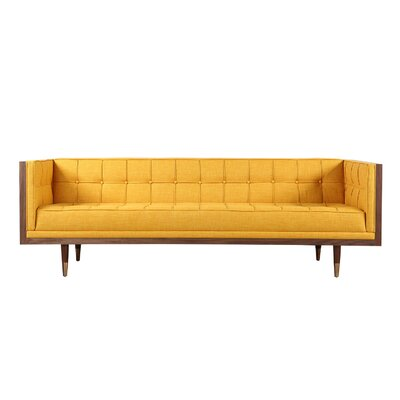 Arista Chesterfield Sofa Frame Finish: Walnut, Upholstery: Citrine Twill