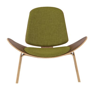 Gregg Plywood Modern Lounge Chair Upholstery: Atomic Moss