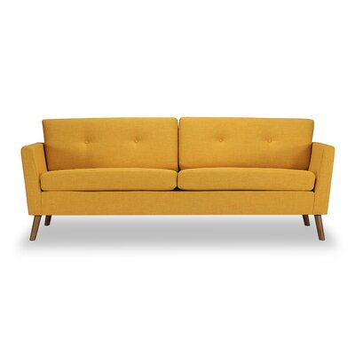 Vance Mid-Century Modern�Sofa Body Fabric: Citrine Twill