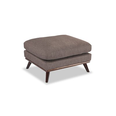 Luther Mid-Century Modern Ottoman Body Fabric: French Press Twill