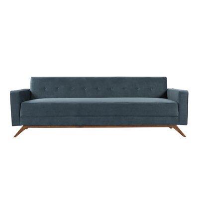 Matt Mid-Century Modern Sofa Upholstery: Neptune Velvet, Leg Color: Brown
