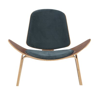 Gregg Plywood Modern Lounge Chair Upholstery: Neptune