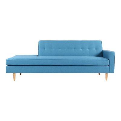 Mickey Mid-Century Modern Classic Sofa Sectional Body Fabric: Urban Surf Twill, Leg Color: Cream
