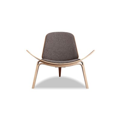 Tripod Lounge Chair Upholstery: Urban Storm, Finish: Walnut