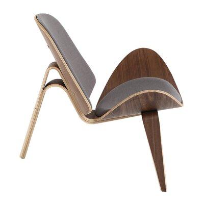 Tripod Lounge Chair Upholstery: Haze Pewter Twill, Finish: Walnut