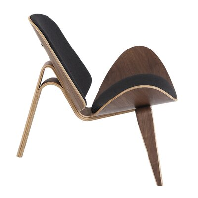 Tripod Lounge Chair Upholstery: Urban Ink Twill, Finish: Walnut
