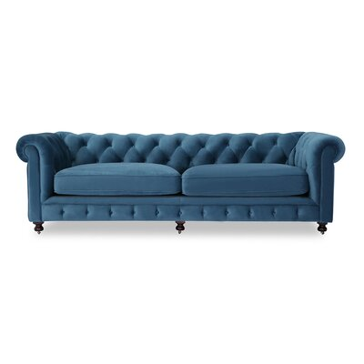 Modern Classic Chesterfield Sofa Upholstery: Aegean Velvet