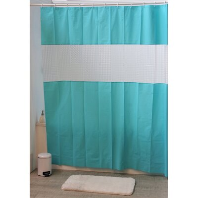 Laser Shower Curtain Color: Turquoise Blue