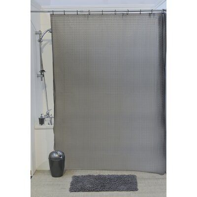 Laser Eva 3D Effect Shower Curtain Color: Gray