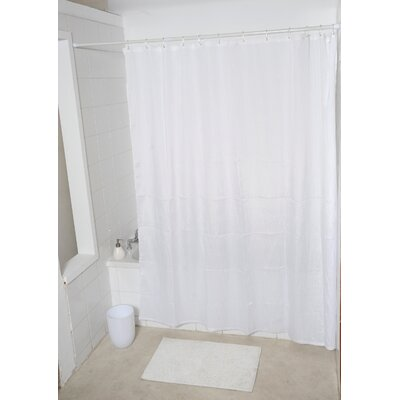 Mildew Free Wrinkled Shower Curtain
