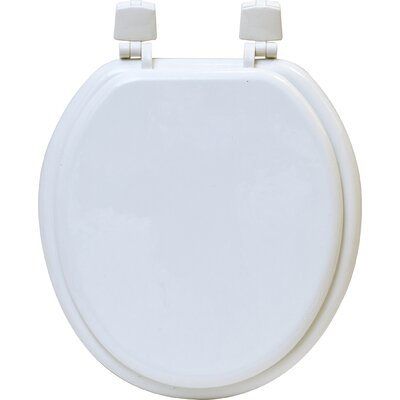 Round Molded Toilet Seat Color: White