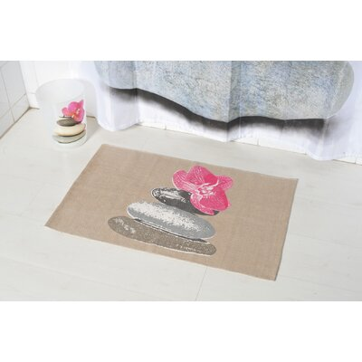 Spa Printed Border Bath Rug